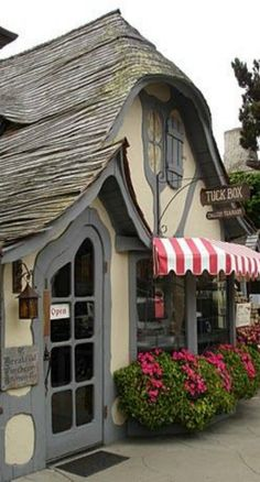The 'Tuck Box' Tea Room, Carmel, California - The Tuck Box is one of Carmel's most well-known Fairy tale cottages.