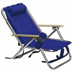 Backpack Beach Chair Folding Portable Blue Solid Construction 1 Of 2 Design Inspirations