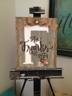 Personalized Canvas Painting with Embellishment