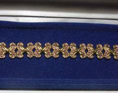 Jackie Kennedy 24K GP Bracelet with Pink Stones by SCLadyDiJewelry