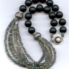 Labradorite Obsidian Necklace