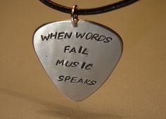 Guitar pick necklace :)