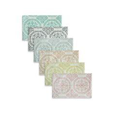 laura ashley® pearl honeycomb bath rug (set of 2