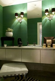 1000 images about green bathroom on pinterest green for Emerald green bathroom accessories