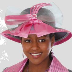 Pink Bow Kentucky Derby Hat Brim Church Hat