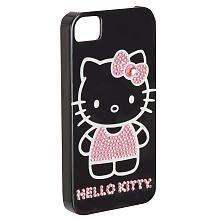 Hello Kitty iPhone 4/4S Embellished Hard-Shell Case - Black