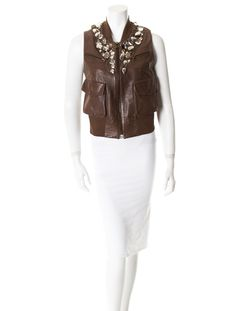 Donna Karan Leather Vest