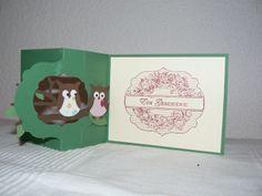 Geburtstagskarte Innenseite Stampin up Eulenstanze