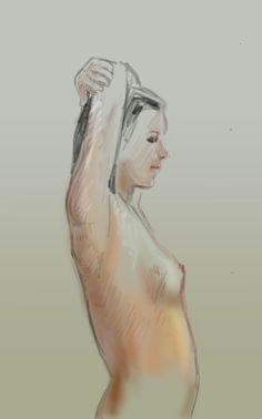 "iPad drawing by Phil Lockwood, iPad Pro, Apple Pencil and ""Artstudio"" app."