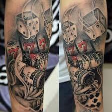 Resultado de imagem para tattoo de casino no braço