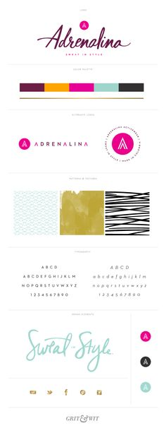 Brand Reveal // Adrenalina Activewear // Grit & Wit // New Work // #branding #gritandwit
