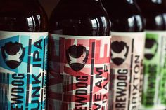 Letterpress Brewdog Labels
