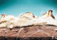 Mexican Chocolate Ice Cream Cake with Orange Meringue - Bon Appetit
