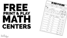 Free Guided Math Cen