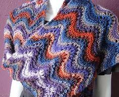 Mochi Plus Ripple Stitch Stole - free stole knitting pattern - Crystal Palace Yarns