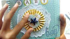 minialbum scrapbook baby boy (album con palitos) - YouTube