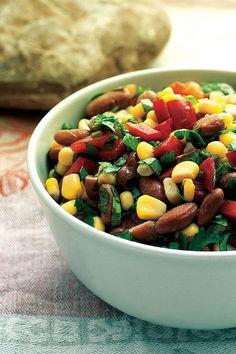 Roasted Tomato, Corn and Boiled Peanut Salad