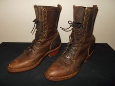 Chippewa Packer Logger Bay Apache Leather Boots Size 11D sku7