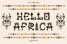 African Font example image