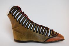 Norfolk museum collection - women's boots - said to have been made in Norqich between 1810 and 1830