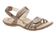 Embellished with snake print accent, the ABEO Bryce sandal features customized comfort!