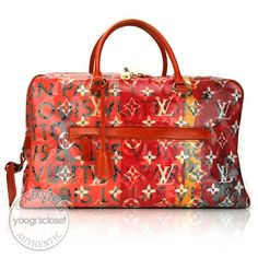 8e20192ffc Louis Vuitton Richard Prince Pink Denim Defile Weekender GM Pulp Bag