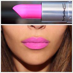 MAC matte-finish lipstick in CANDY YUM YUM