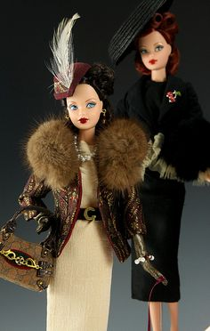 Love these restyled 1940's dolls