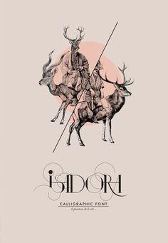 ISADORA Calligraphic Font by Daniel Barba