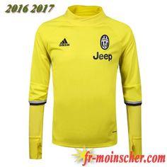 Le Nouveau:Sweatshirt Training de Juventus Jaune 2016 2017 fr-moinscher
