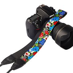 DiomateTM Camera Shoulder Neck Strap Belt Flower Style SLRDSLR Camera Strap for Men and Women Style 08 * Click image for more details.