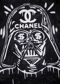 Will Street Original Painting 21x29| alec star wars monopoly force awakens art #UrbanArt
