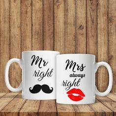 Căni pentru cuplu - Mr Right și Mrs Always Right