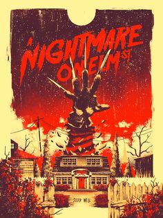 ► A Nightmare on Elm Street de Wes Craven ► By Marie Bergeron Horror Icons, Horror Movie Posters, Movie Poster Art, Films D' Halloween, Halloween Horror, Slasher Movies, Comedy Movies, Horror Artwork, Culture Pop
