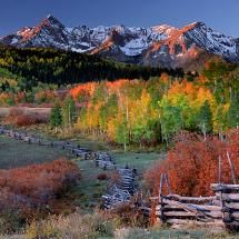 Autumn photograph of the Rocky Mountains near Ridgway, Colorado. Exquisite outdoor landscape photographs by photographer Andy Cook available for purchase and stock use. Rocky Mountains, San Juan Mountains, Colorado Mountains, Beautiful World, Beautiful Places, Into The West, Colorado Rockies, Leadville Colorado, Durango Colorado
