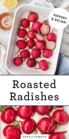 Learn how to make perfect roasted radishes! Sweet, mild, and crisp, they're an easy, delicious spring side dish. | Love and Lemons #radishes #spring #sidedish #healthyrecipes #cleaneating Sin Gluten, How To Cook Radishes, Clean Eating Recipes, Healthy Recipes, Corn Recipes, Roasted Radishes, Radish Recipes, Keto, How To Cook Quinoa