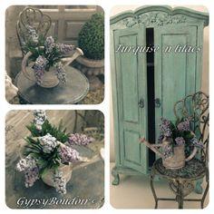 Turquise´n+lilacs. Gypsy Boudoir miniatures.