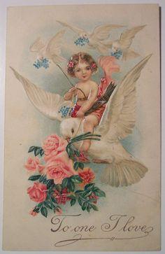 Křídla Whimsy: Cherub jízda na Dove, Roses & Hearts - zdarma pro osobní použití Valentine Cupid, Valentine Images, My Funny Valentine, Vintage Valentine Cards, Vintage Greeting Cards, Valentine Day Cards, Valentine Crafts, Vintage Postcards, Victorian Valentines