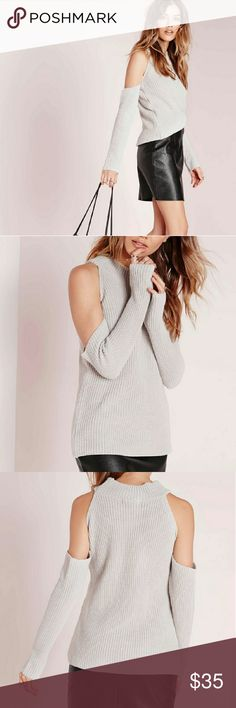 Missguided Cold Shoulder Sweater New with tags! Missguided Sweaters