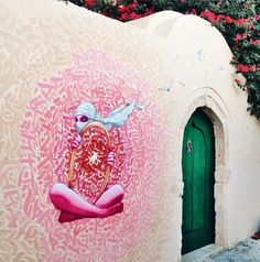 Collab MKT Artwork (Tunisia) + Brusk (France) - for the Djerbahood project - Djerba, Tunisia - July/Aug 2014