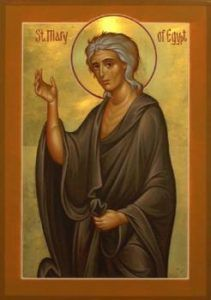 Humble Repentance or Paralyzing Guilt? Mary of Egypt for the Sunday of Lent in the Orthodox Church – Eastern Christian Insights Byzantine Icons, Byzantine Art, Religious Icons, Religious Art, St Mary Of Egypt, Orthodox Christianity, Catholic Saints, Art Icon, Orthodox Icons