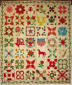 Civil War Quilts: Connecticut & New York Sampler: 1866-67