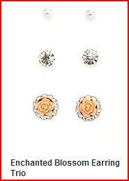 Enchanted Blossom Earring Trio $6.00 Charlotte Russe