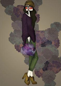 anna, bonecas, bours, ilustração, moda