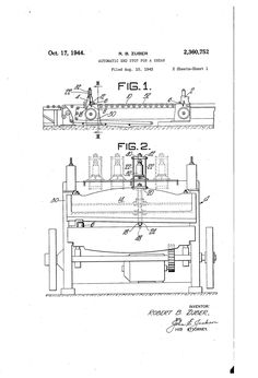 Patent US2360752 - Automatic end stop for a shear - Google Patents MULTIPLE IMAGES Multiple Images, Patent Pending, Shearing, Diagram, Google