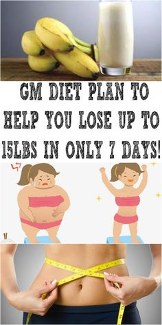 GM DIET PLAN TO HELP YOU LOSE UP TO 15LBS IN ONLY 7 DAYS!