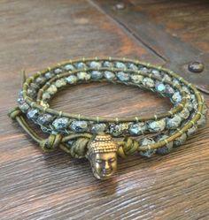 "Bohemian Buddha Double Wrap Bracelet ""Boho Chic"""