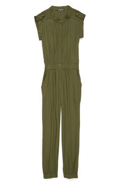 Miss Behave 'Catherine' Short Sleeve Jumpsuit (Big Girls) available at #Nordstrom