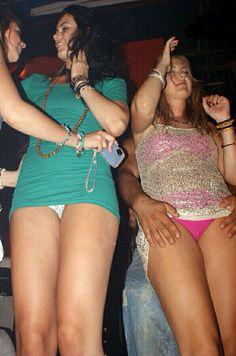 Club Upskirt Pussy Exposed