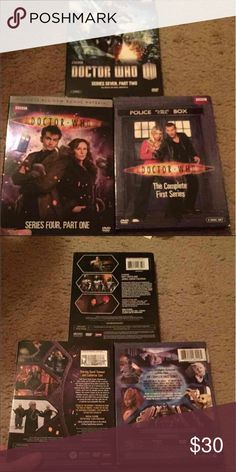 Doctor Who DVDs I have series4 part one, the complete first series and series seven part two Other